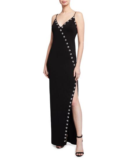 Jay Godfrey Elisa Sleeveless Stretch Crepe Gown
