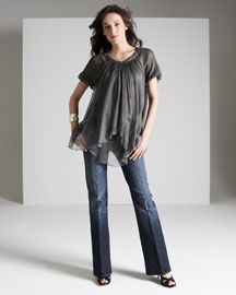 7 for all mankind New York Dark Stretch Jeans -  Women's -  Neiman Marcus