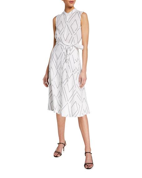 Equipment Clevete Geo Print Sleeveless Short Dress