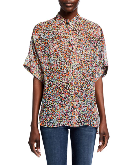 Equipment Alvia Printed Silk Top