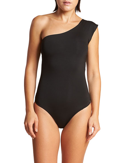 LeSwim Caliope One-Shoulder One-Piece Swimsuit