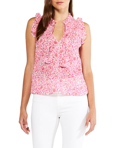 Floral Print Womens Top | Neiman Marcus