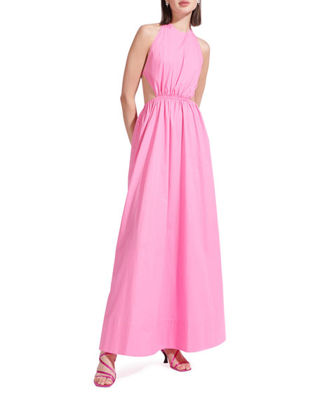 Staud Apfel Open-Back Maxi Dress