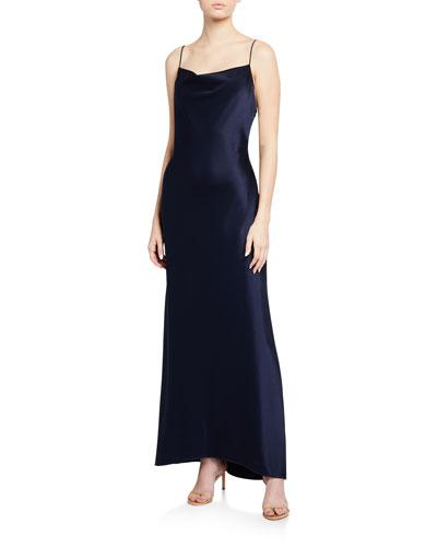 Harmony Drapey Slip High-Low Dress