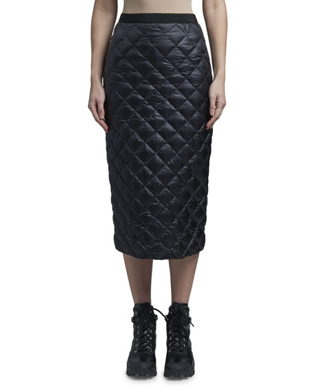 Moncler Down Quilted Pencil Skirt