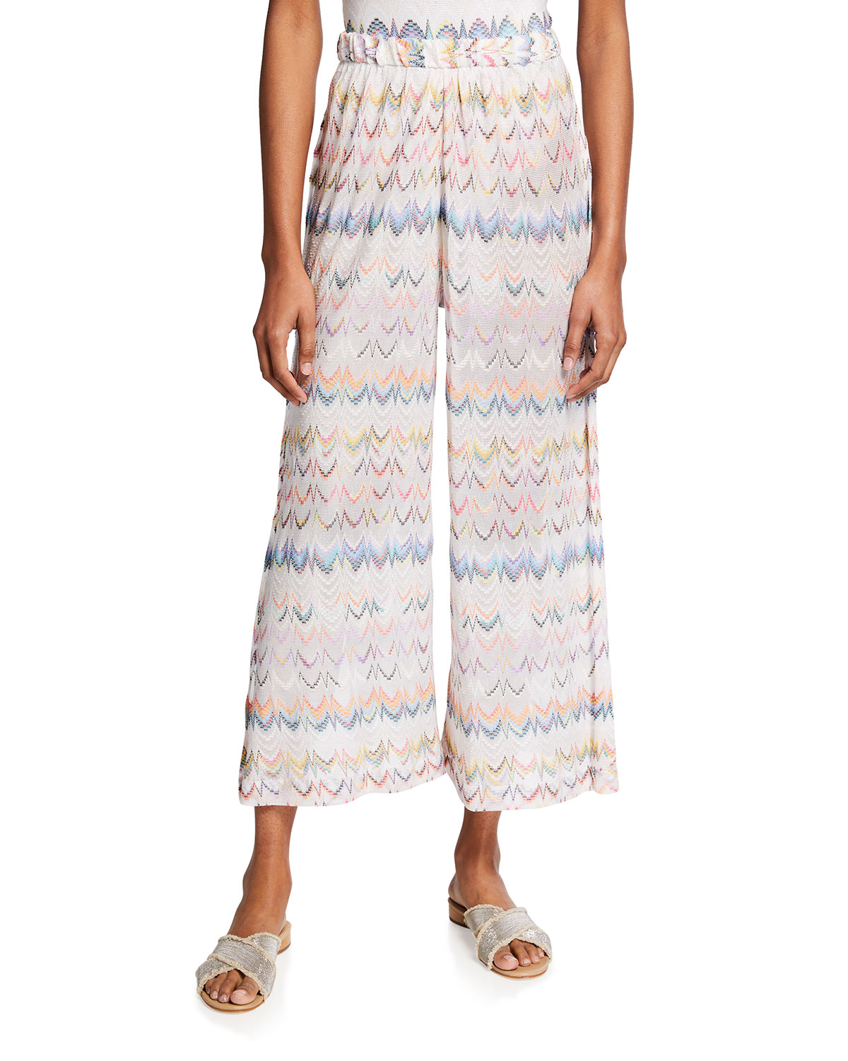 Coverup Wide-Leg Cropped Trousers