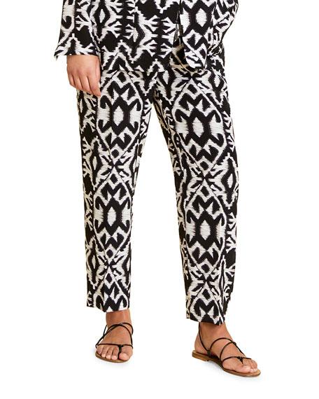 Marina Rinaldi Plus Size Riccioli Printed Drawstring Pants