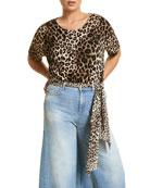 Marina Rinaldi Plus Size Adesso Leopard Print Top