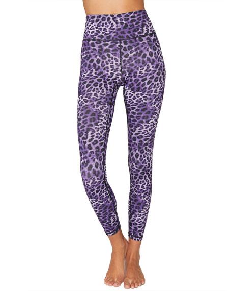 Spiritual Gangster Essential High-Waist Leggings - Lavender Cheetah