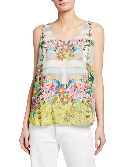 Johnny Was Tabitha Reversible Printed Tank