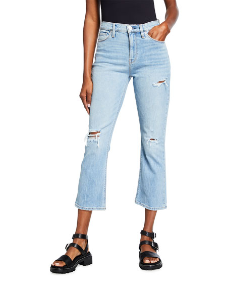 Hudson Holly Cropped Boot-Cut Jeans