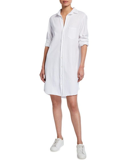 Frank & Eileen Tee Lab Relaxed Button-Down Jersey Shirtdress