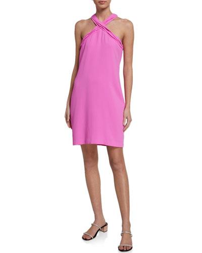 Magical Crepe Halter Dress