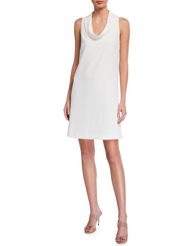 Naples Cowl-Neck Sleeveless Dress