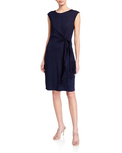 Phase Side-Drape Jersey Dress