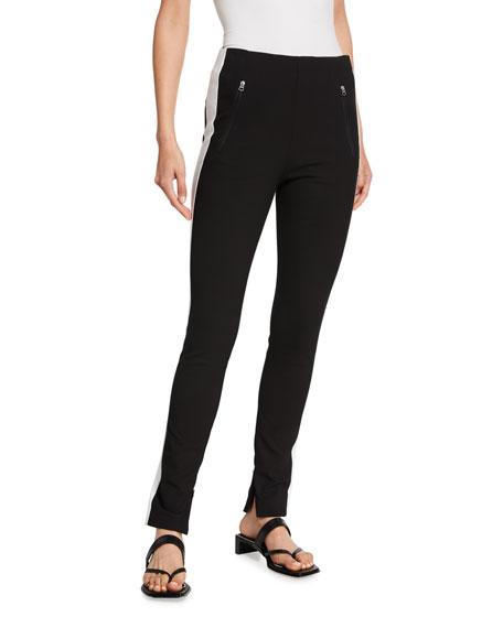 Rag & Bone Simone Sporty Pants w/ Side Stripes