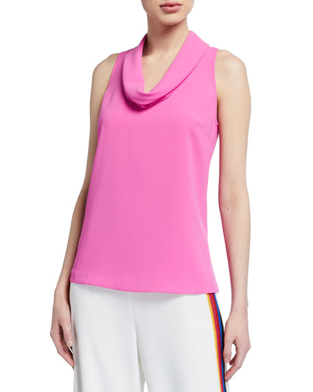 Trina Turk Naples Sleeveless Cowl-Neck Top