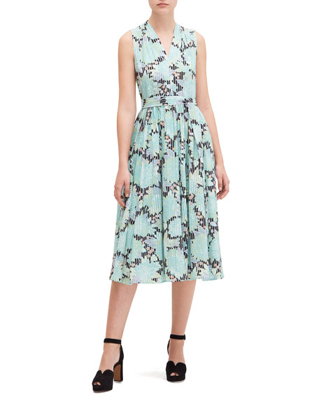 kate spade new york dahlia bloom burnout midi dress