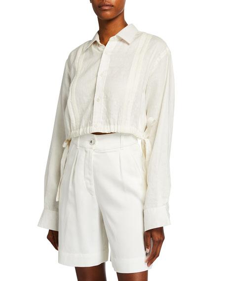 Johanna Ortiz Cuban Towns Linen Cropped Shirt