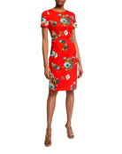 Black Halo Jodee Floral Print Sheath Dress