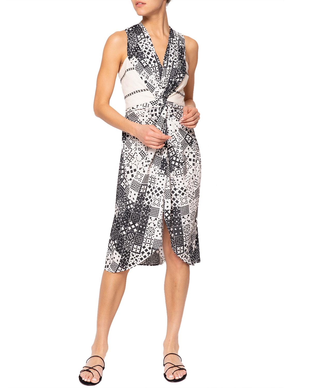 Ava Geometric Backless Short Dress