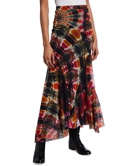 Fuzzi Chakra Print Long Skirt