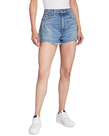 Veronica Beard Jeans Timmi Cutoff Denim Shorts