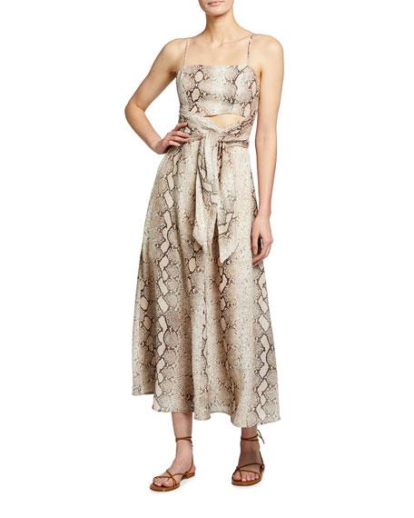 Zimmermann Bellitude Scarf Tie Dress
