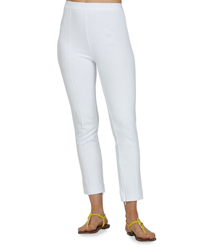 Plus Size Stitched Seam Ankle Pants