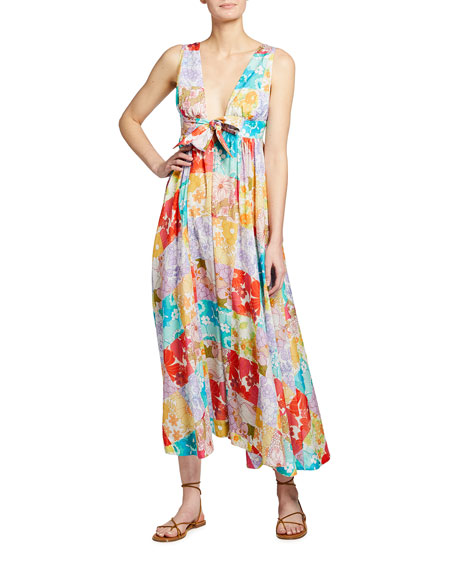 Zimmermann Bells Long Tie-Front Dress