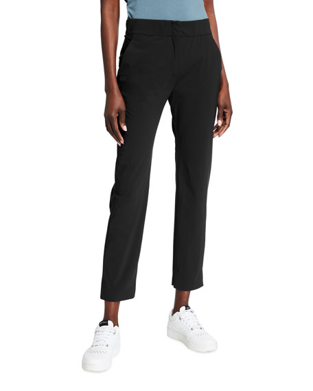Max Mara Leisure Tab Front Full Leg Jersey Crop Pants