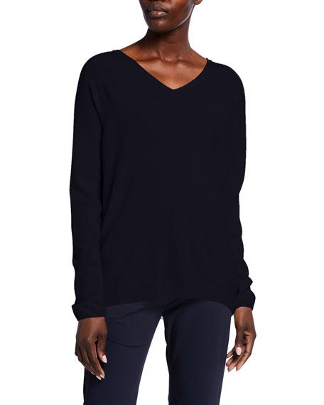 Max Mara Leisure Wool-Blend V-Neck Sweater