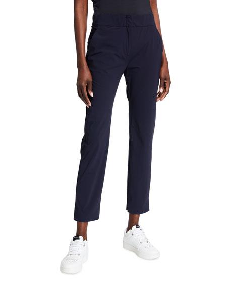 Max Mara Leisure Jersey Tab Front Full Leg Crop Pants