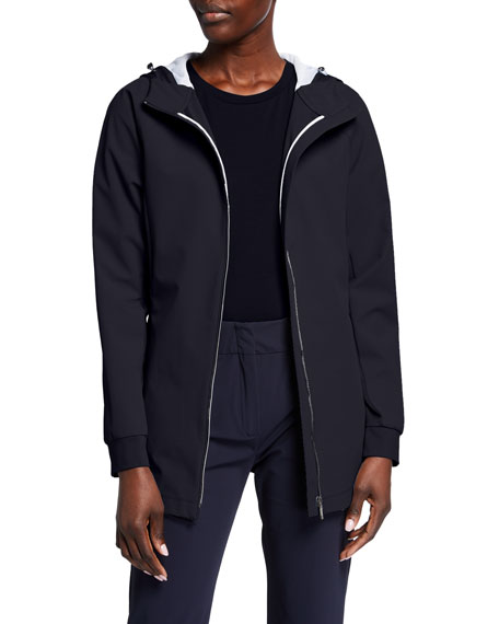 Max Mara Leisure Adatto Hooded Zip Front Jacket