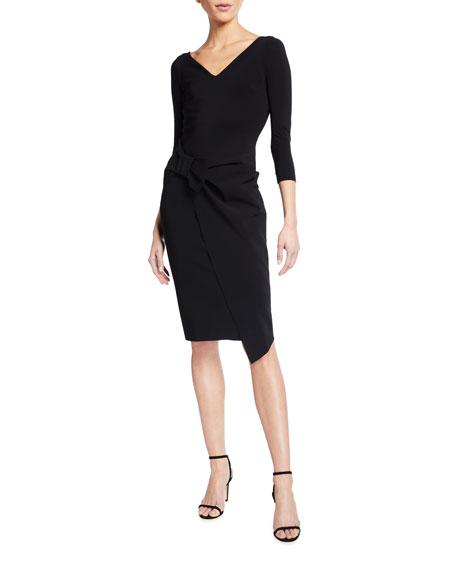 Chiara Boni La Petite Robe Sotiria V-Neck Jersey Sheath Dress