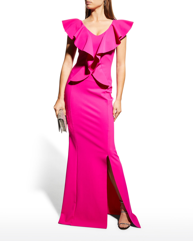 Sido Cascading Ruffle Gown