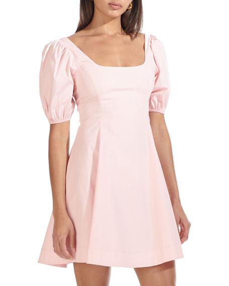 Staud Laelia Puff Sleeve Dress