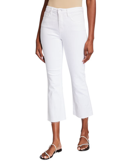 L'Agence Kendra High-Rise Crop Flare Jeans