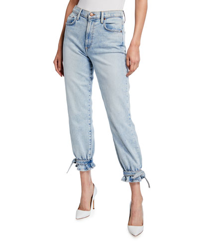 Amazing High Rise Ankle Tie Jeans