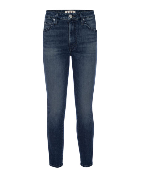 AMO Denim Stix High-Rise Cropped Skinny Jeans