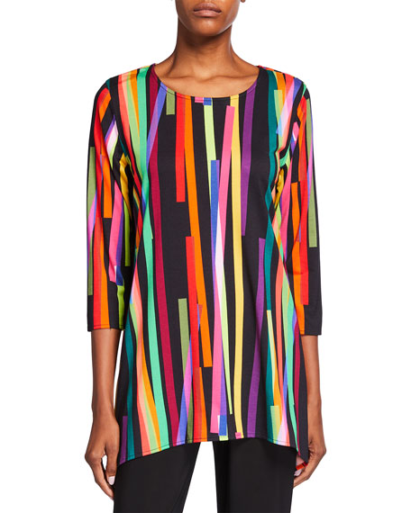 Caroline Rose Plus Size Living Color Knit Tunic