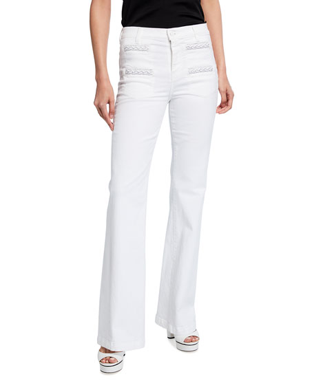 7 for all mankind Georgia Braided High-Rise Flare Jeans