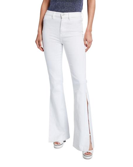 7 for all mankind High Slit Flare Denim Jeans