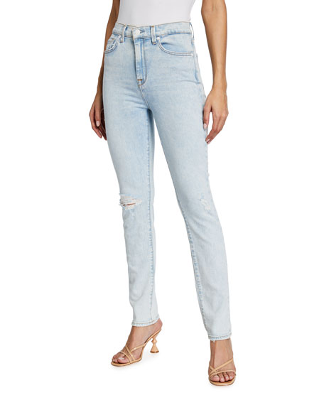 7 for all mankind The High-Waist Skinny Ankle Jeans