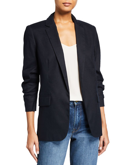 FRAME Pleated Boyfriend Blazer