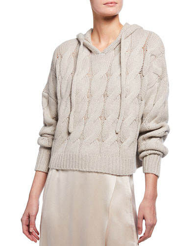 Luke2003 Cable Cashmere Hoodie