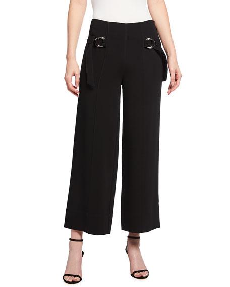 cinq a sept Diana Belted Crop Wide-Leg Pants