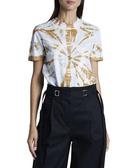 Proenza Schouler White Label Classic Tie Dye Short-Sleeve Cotton Shirt