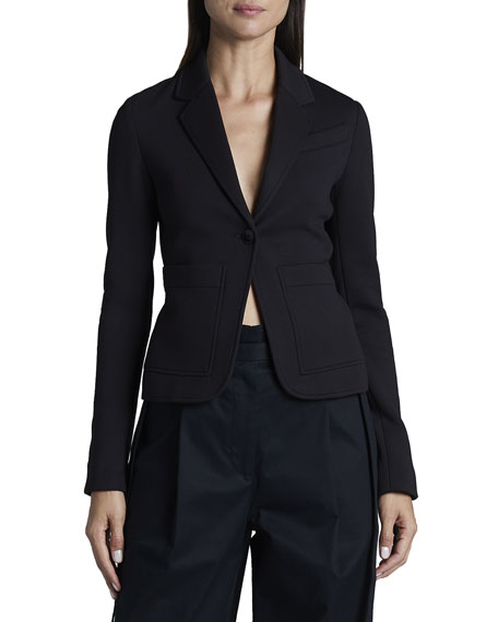 Proenza Schouler White Label Jersey Suiting One-Button Blazer
