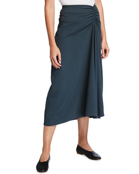 Vince Ruched Asymmetric Midi Skirt